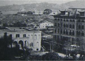 1920年的马高爱医院,注意其侧为华南女子文理学院教学楼(来源:福建师范大学档案馆)