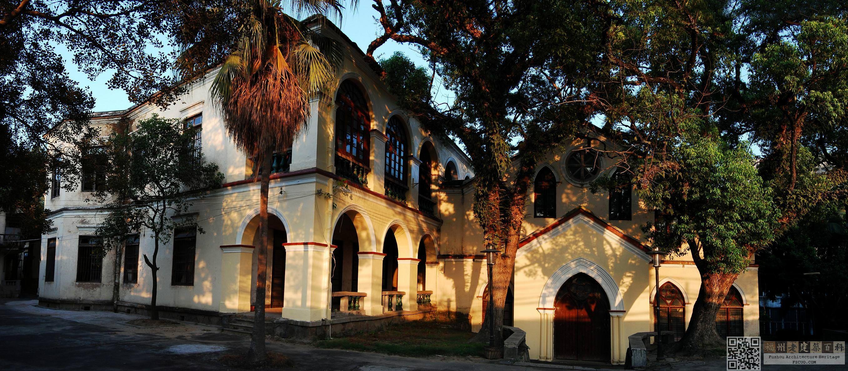夕阳下的陶淑女子学校(拍摄:池志海 / 2011年8月)