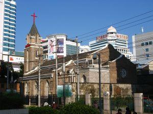立足花巷朝西北望教堂(来自:GnuDoyng)