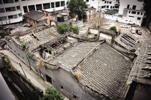 2011年二月火帝庙仍有两进(来源:东南快报/2011.2)