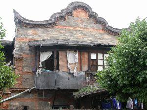 陶园山墙,注意青砖墙面,红砖砌出的装饰图案(拍摄:Celespace,2003年)
