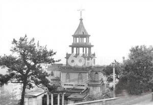 """鼓岭""""避暑山庄""""中新建的教堂"""