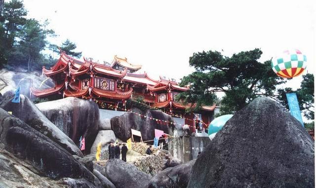 屏山寺风景区在长乐东北潭头镇的猴屿村秀丽的秀
