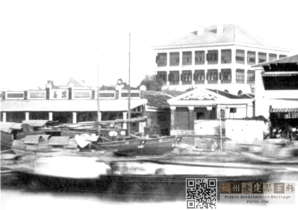 莫理循照片中的旗昌洋行(来源:福州市档案馆)