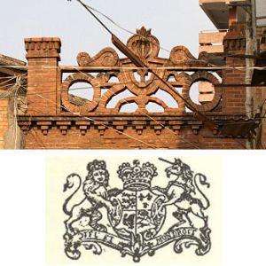 整庐门头与英王徽的对比(制图:林轶南)
