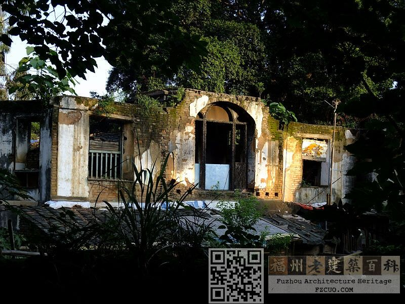 从仓山小学内拍摄的象山精舍废墟(拍摄:林轶南,2012年5月)