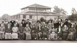 1935年裨益知夫妇七秩双庆纪念照中的刘公纪念堂