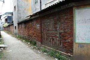 青红砖拼花围墙(小飞刀摄于2012年7月)