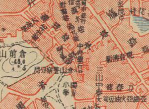 1949年的历史地图,仓山警察分局位于该建筑(来源:福建省图书馆)