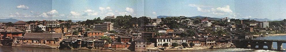 1980年代,拆迁前的中洲岛(来自《福州城建新貌》1989年福州市建委)