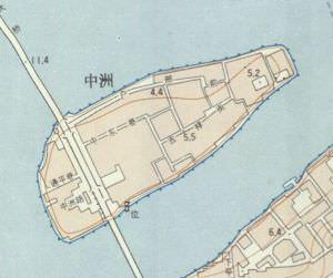 1981年的中洲岛地图(来源:福州市规划院)