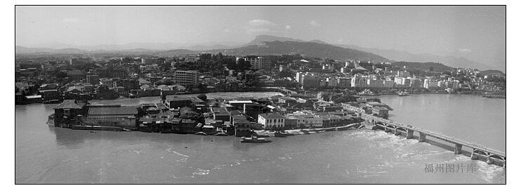 1986年拍摄的中洲岛(来源:中国福州图片库)