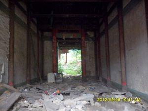 拆迁后的正堂,与2010年拍摄角度相同(洪孝松摄于2012年9月)