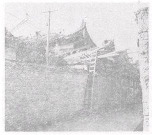 华林寺大修前原貌。自《福州华林寺大雄宝殿调查报告》1956