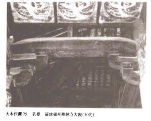乳栿下清代增加的天花(自《梁思成文集第七卷·营造法式注释》