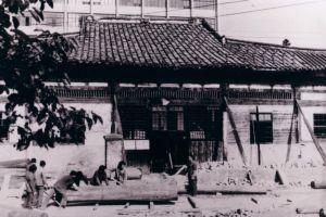 大修前的华林寺大殿