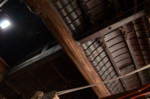 梁架构造 可见横撑减柱法的应用(拍摄:红衣棒糖人/2013.6)