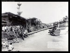 1900年6月29日,被冲毁的江南桥(来源:布里斯托尔大学)