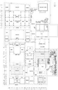 总平面图(来源:《福州衣锦坊水榭戏台古建筑群修复工程》,nenva重标)