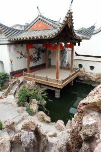 从东北方向鸟瞰水榭戏台(摄于2011年,来源:福州新闻网)