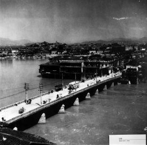 1950年左右拍摄的万寿桥(来源:福建日报社提供)