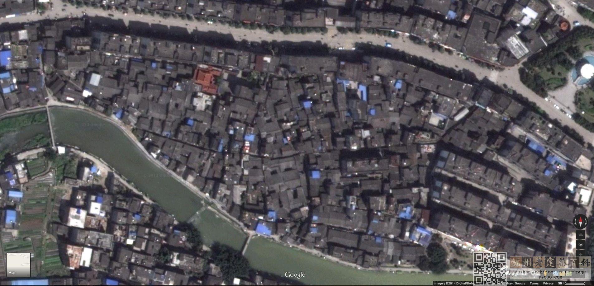 孝巷卫星图(Google Earth)