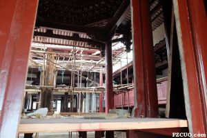 修复中的五帝庙(拍摄:暂不留名 2014年7月)