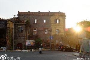 只剩外壳的依春酒库(拍摄:池志海/2014)