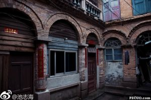 拆毁前的内部洋楼(拍摄:池志海/2012)