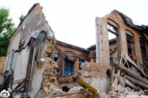 拆毁后的内部洋楼(拍摄:池志海/2014)