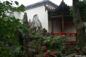 """灰塑雪洞(""""七星洞"""")三进出口小花园(来源:nenva摄于2011年2月)"""