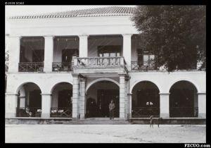 1890年拍摄的乐群楼正立面(来源:布里斯托尔大学 / J.S.Oswald的照片集)