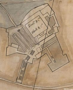 1868年地图,可见观井路29号弄的登山石阶和本建筑,标注为宝顺洋行、裕昌洋行使用(来源:美国国会图书馆馆藏)