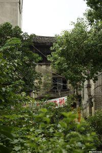 从三捷河北岸拍摄的永德会馆顶部(三层)清代厅堂部分(来源:nenva摄于2015年8月)