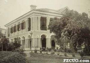 早期拍摄的英国驻福州领事馆住宅,约摄于1869-1870年(来源:roomfordiplomacy.com)