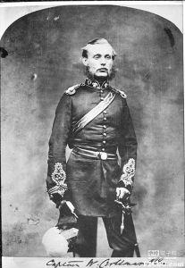 威廉·克里斯曼爵士(1830-1901),大约1860年任皇家工程部上校时所摄,他创设了英国工程处上海办公室(来源:台湾中时电子报)