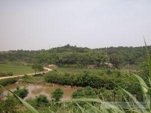 淮安窑址所在的石岊山(从南到北)(来源:李福生摄于2009年6月)