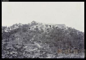 """1894年拍摄的鼓岭Ramsey别墅,标注为""""R. Ramsey位于'马其顿山'的房子""""(来源:布里斯托尔大学)"""