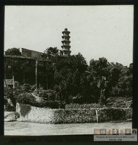 清代拍摄的福清东瀚万安祝圣宝塔(来源:kongfz.com)
